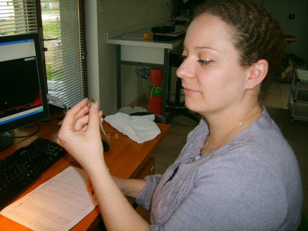 Mélissa Martin in the lab